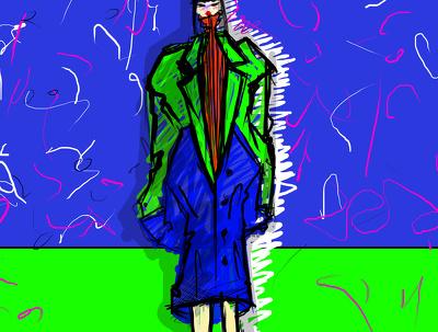 One fashion illustration