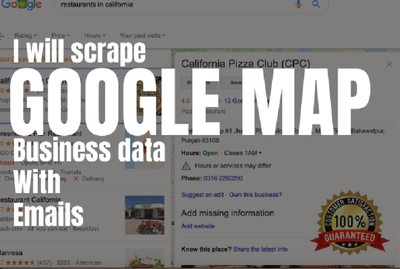 Do upto 1000 business leads scraping from google map with emails