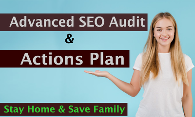 Provide advanced SEO audit report and action plan for Website