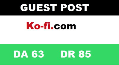 guest Post on Ko-fi - Ko-fi. com DA63 DR85 Traffic: 60K/Month