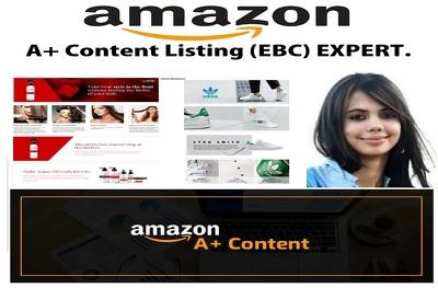 Create A+ Content Enhansed Brand Content (EBC) 1Product