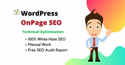 Do onpage seo and technical page optimization for your wordpress
