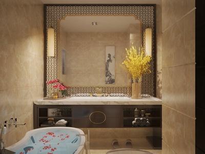 Design your interior bathroom with rendering