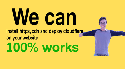 setup and configure cloudflare CDN to your website in 24 hours.