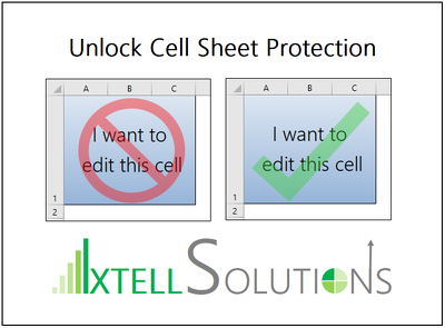 Unlock Locked Cells in Excel for up to 3 Spreadsheets