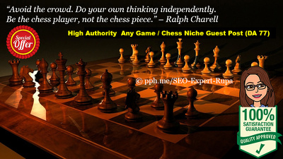 Guest Post For Chess / Game Website (Niche) DA 77 (New Offer)