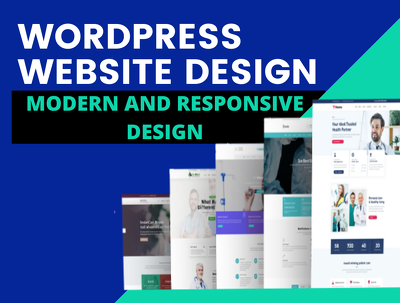Design and Develop Responsive WordPress Website  6 To 8 Pages es