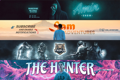 Design custom premium YouTube banner or thumbnail