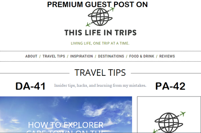 write and Publish Premium Guest Post on thislifeintrips.com