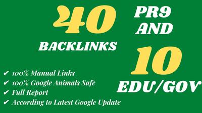 Create 40 PR9 and 10. Edu/. Gov Backlinks