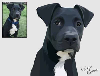 Custom Vector Pet Portrait
