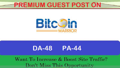 write and Publish Premium Guest Post on bitcoinwarrior.net