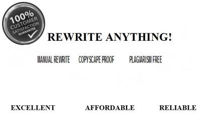 Rewrite SEO article, blog or website