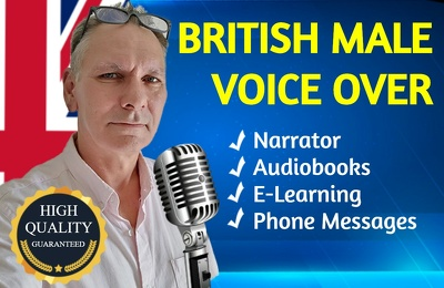 British Male Voice Over up to 200 words