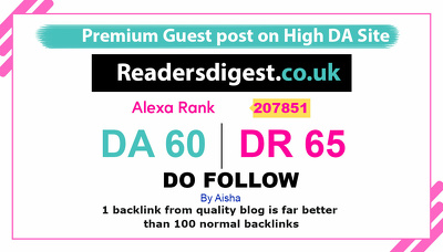 Publish a Guest Post on readersdigest - readersdigest.co.uk DA60
