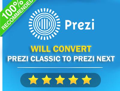 Convert prezi classic to awesome prezi next presentation