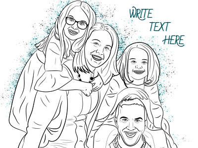 Draw photos with one figure into a coloring book, 10p for$45