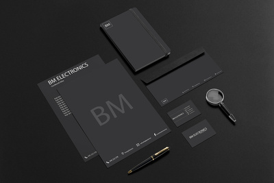 Design stationery set (business card+letterhead+envelope)