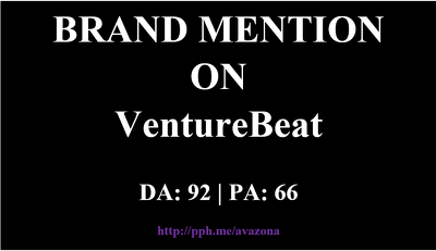 publish your article at VentureBeat.com -- Brand Mention