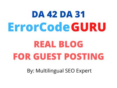 GuestPost on ErrorcodeGuru with Do-follow Link