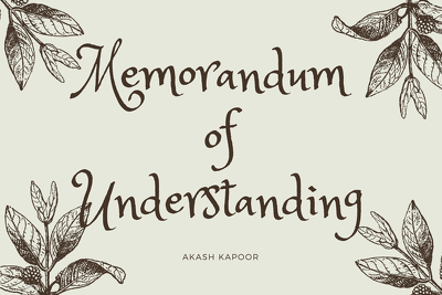 Expertly and competently draft a memorandum of understanding