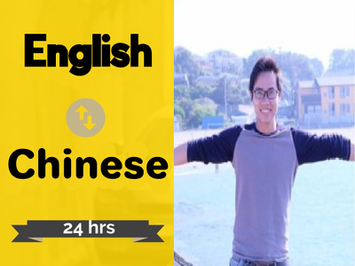 provide professional Chinese translation in 24H