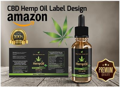 Design premium hemp, CBD label and box package design