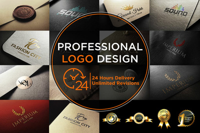 professional Logo Design + 2 High Quality Concepts unlimited REV