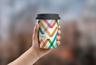 Design coffee cup with visualisation