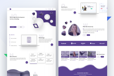Design Landing page  or website page + unlimited revisions