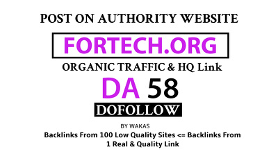 publish Guest Post on Fortech - Fortech.org DA 58 Dofollow Link
