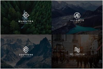 Design clean minimalist and modern business logo design