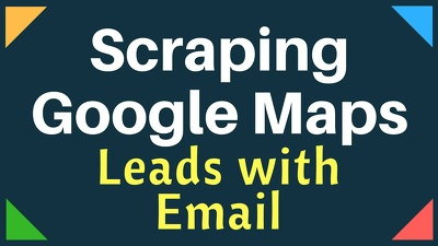 Scrape google maps business leads with email