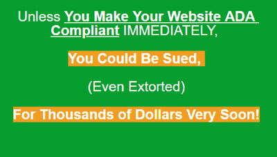 Make your website Compliant with ADA Law