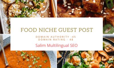 Guest post on Food NIche-DA45