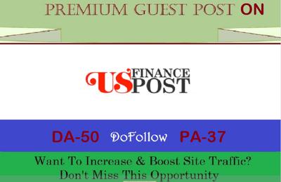 add Finance and News Guest post on USFinancePost.com