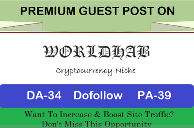 write and Publish Premium Guest Post on worldhab.com