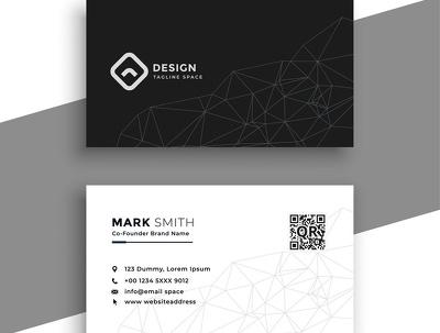 Make a design business card in
