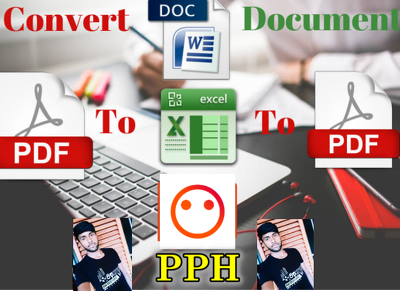 Convert or Update PDF files to Word or Excel