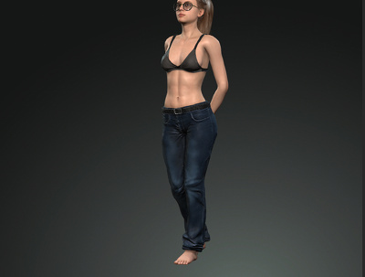 A make 3D character for movies or games.
