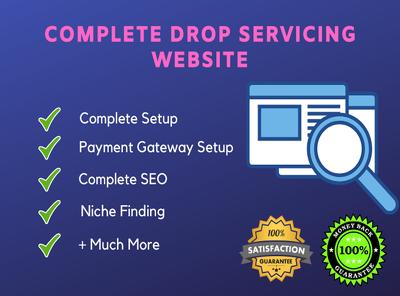 Create a professional dropservicing or drop servicing website