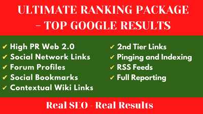 Create Ultimate Ranking Package - Top Google Results