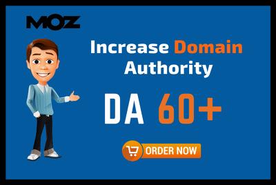 Increase domain authority moz da 40 to 60