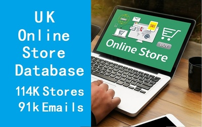 Provide UK online store database include email phone fax