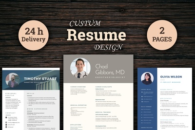 I will design professional Resume(CV),Cover letter within 24 hrs