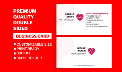 Design premium quality double sided professional Business cards.