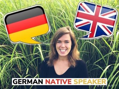 nATIVE GERMAN SPEAKER Translation ENG  GER