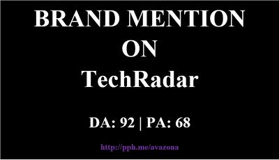 Publish your article at TechRadar- TechRadar.com - Brand Mention