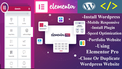 Do create wordpress website using elementor pro or wp bakery