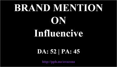 Publish your article at Influencive.com -- Brand Mention